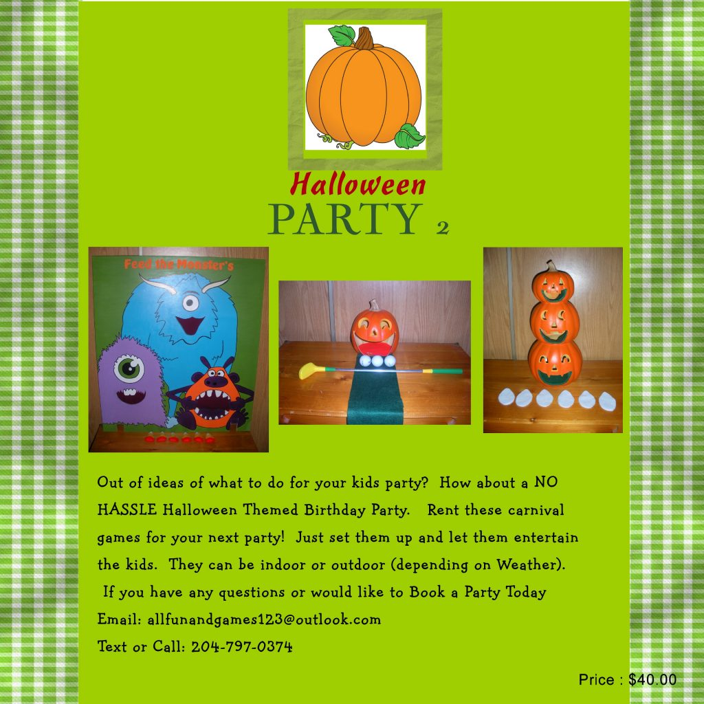 Halloween2 party package