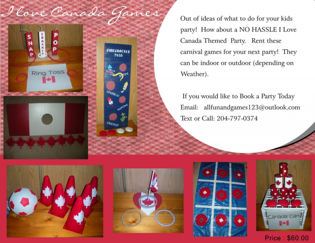 I Love Canada Games Party Package