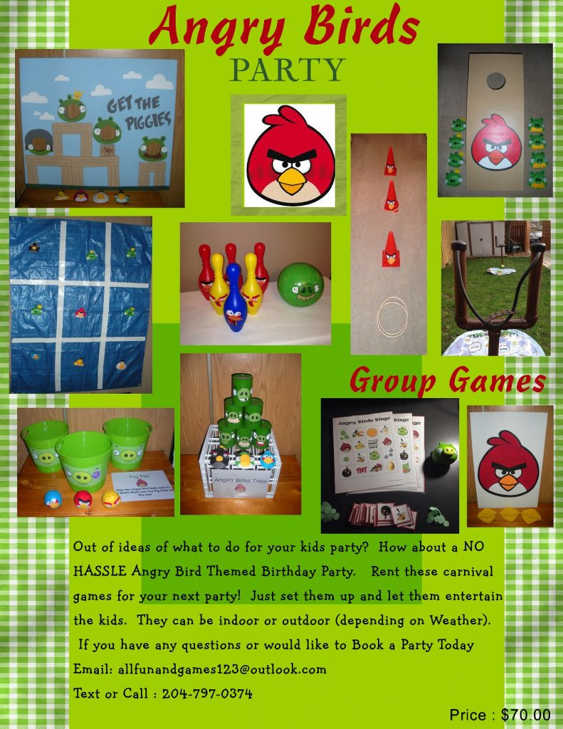 angry bird party package
